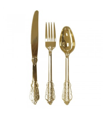 SET CUTLERY GOLD / 6 pers